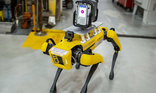 Boston Dynamics' Spot dog-like robot.